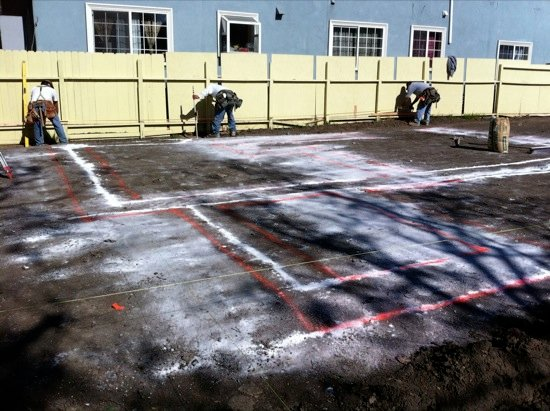 small lot subdivision staking construction 06