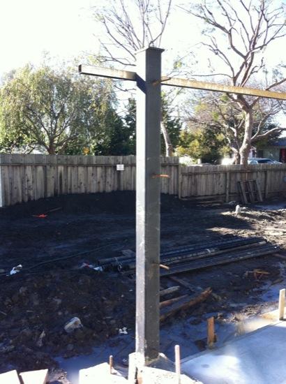 small lot subdivision steel columns 10