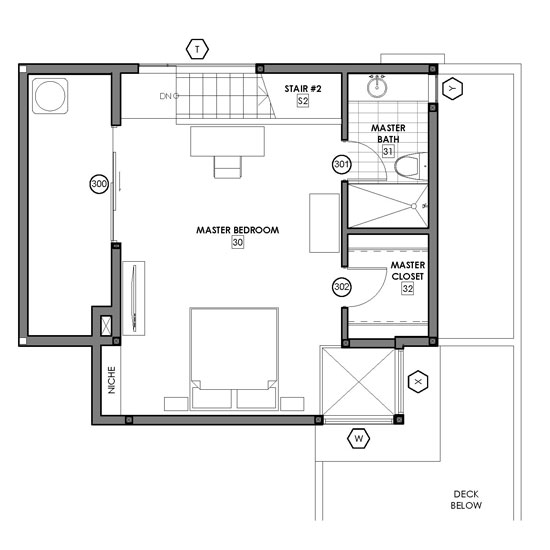 Small Master Bedroom Floor Plan - Interior Design