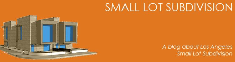small lot subdivision blog