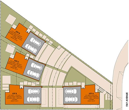 Small Lot Subdivision Site Plan Fay Triangle