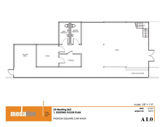 Modern car wash architect fashion square car wash retail floor plan malvernweather Choice Image