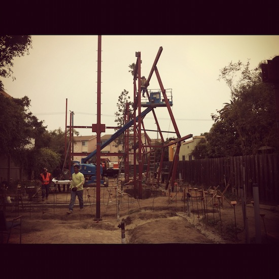 venice small lot construction steel framing