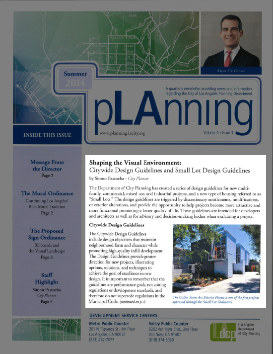 LA City Planning Newsletter Cullen Modative