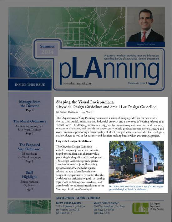 LA City Planning Newsletter Cullen Modative