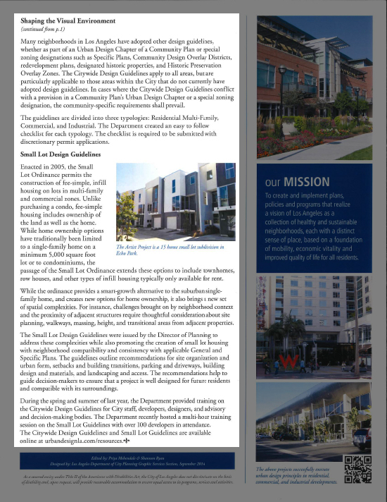 LA City Planning Newsletter Artis Modative