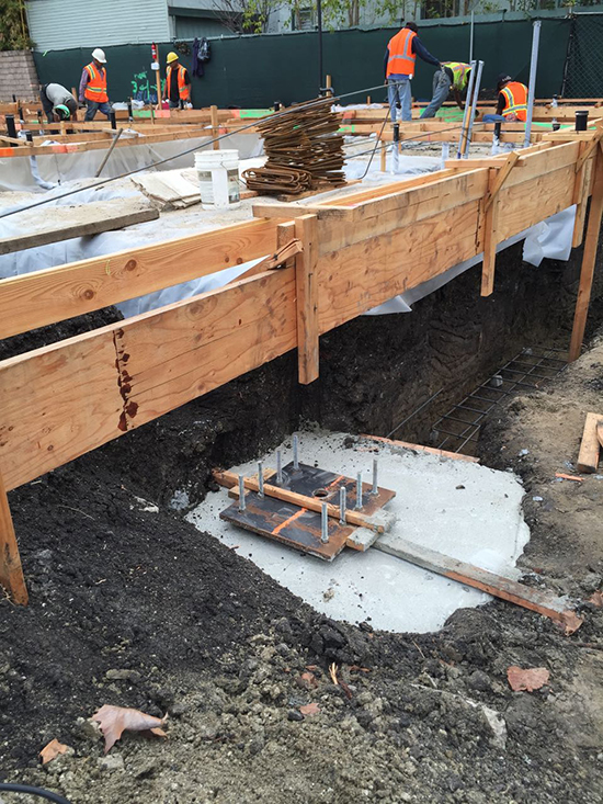 Small Lot Foundation Construction