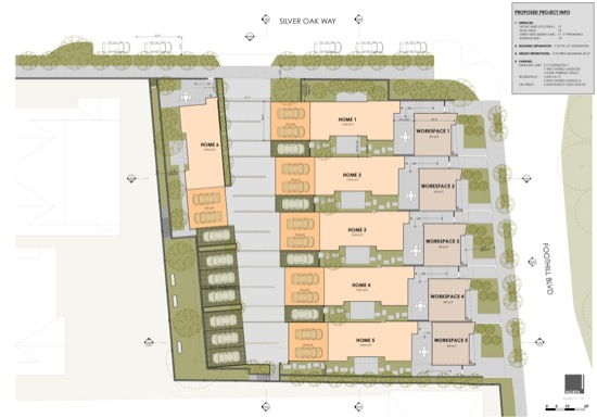 modern home live work cupertino architect site plan