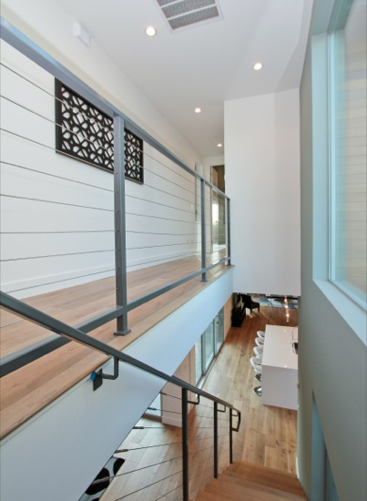 modern unique master suite