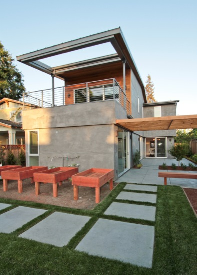 modern homes outdoor room