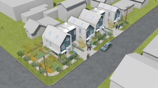 Hough and Chestnut Small Lot Subdivision Modern Architecture